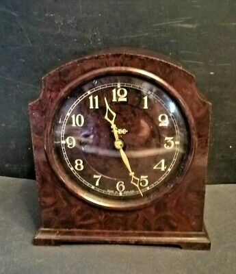 1930s Bakelite Smiths SEC 8 Day Clock Great Working Order - Art Deco