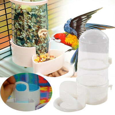 2AC9 Plastic Pet Bird Automatic Feeder Water Dispenser Large Hedgehog Hamster