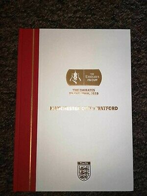2019 FA Cup Final Limited Edition Hardback Programme - Watford v Manchester City