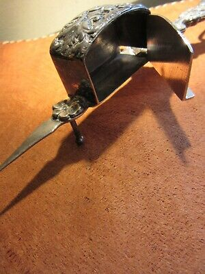 """Silver Plated Antique Scissor Candle Wick Trimmers Snuffer Desktop 7.1/2"""""""