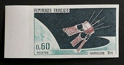 Timbre Non Dentele France N°1476 Satellite D1 .1966. Gomme **.