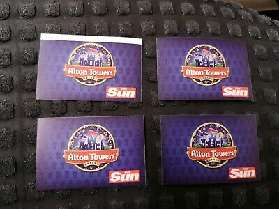 X4 Alton Towers Tickets For Sunday 7 July 2019 only