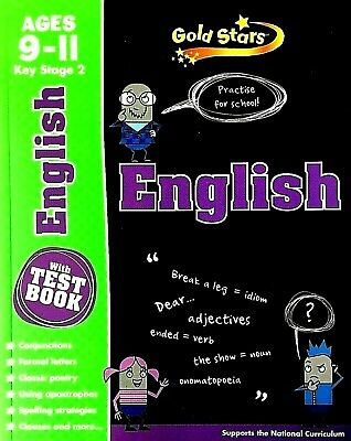 English, Ages 9-11, KS2, With Test Book, Gold Stars, Practise For School, New
