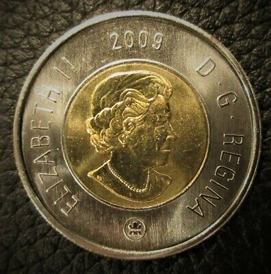 2009 Canada $2 Toonie Mint State Polar Bear Uncirculated from Roll