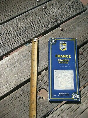 Vintage *** 1961 --- FRANCE - Grandes Routes *** Michelin Map 989 FRANCE