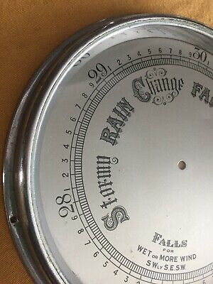 Barometer Glass Dial Chrome/Silver Coloured Bezel Part Spares Repairs