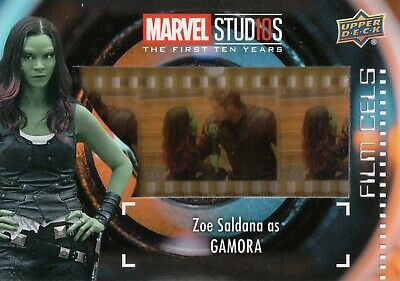 Marvel The First Ten (10) Years, Zoe Saldana 'Gamora' Film Cell Card FC-14