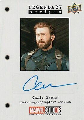 Marvel The First Ten (10) Years, Chris Evans Autograph Card LS-CA