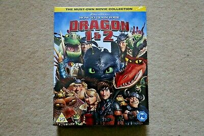 Blu-Ray  How To Train Your Dragon 1 And 2    Brand New Sealed Genuine Uk Stock