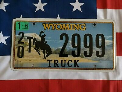 Plaque d'immatriculation Wyoming 2999 US USA license plate
