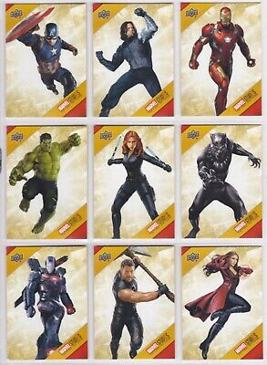 Marvel The First Ten (10) Years, Marvel Cinematic Universe Chase Card Set TU1-32
