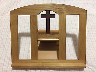 Vintage Catholic Cross Book Stand, for Holy Reading