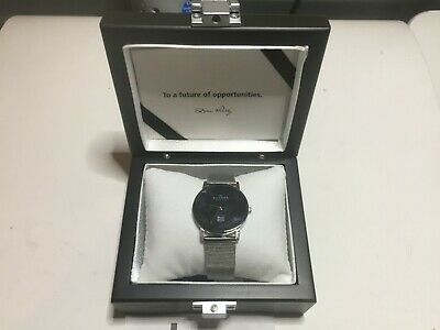 NEW Skagen Ultra Slim Watch Large 22mm Black Face No Battery Silver Display Box