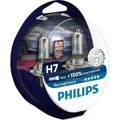 Philips Racing Vision 0730253 +150% H7 Ampoules Phare Voiture Paquet 2 12972RVS2
