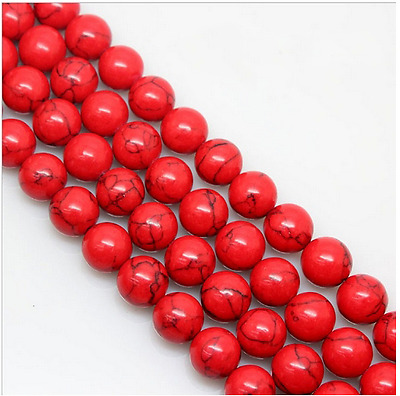 "15"" 4mm 6mm 8mm 10mm 12mm Natural Red Turquoise Gemstone Stone Spacer Beads"
