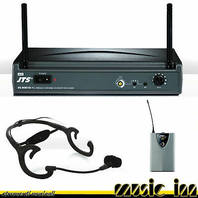 Jts Us8001dpt850bcx504 Wireless Uhf Headset Microphone System