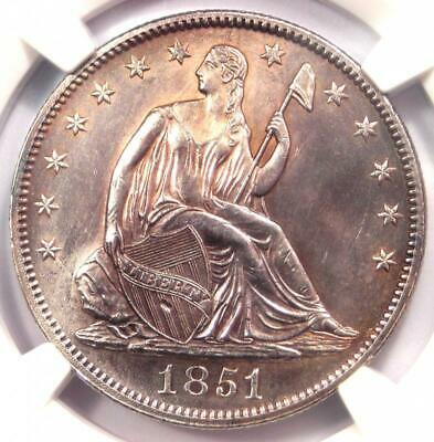 1851 Seated Liberty Half Dollar 50C - NGC Uncirculated Details (MS UNC) - Rare!