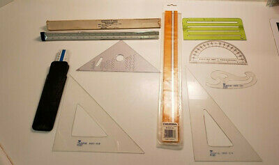 10 Vintage Teledyne Post Drafting Architect Template Rulers Angles Standardgraph