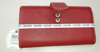 Mundi® Rio Framed Suburban Clutch, Genuine Leather, Red