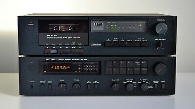 ROTEL RX-855 AM/FM Stereo Receiver + ROTEL RD-845 Stereo Cassette Tape Deck