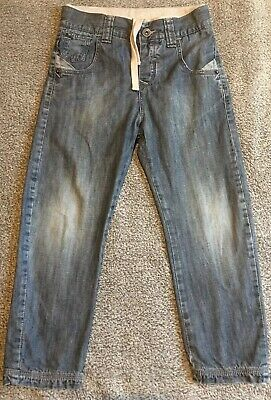 "Boys LEVIS RED TAB Blue Jeans Age 6 Inside Leg 18"" Jersey Lined Tie Waist Spring"