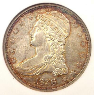 1836 Reeded Edge Capped Bust Half Dollar 50C Coin - NGC AU55 - $6,250 Value!