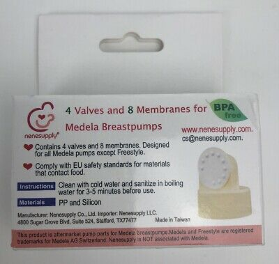 Medela 4 Valves and 8 Membranes Breastpump Pump In Style PIS New Nenesupply