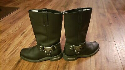 Milwaukee Motorcycle Leather Women's Classic Harness Riding Boots Black sz 8C