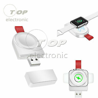 Portable Magnetic Wireless USB Power Charger for Apple Watch iWatch 1/2/3/4