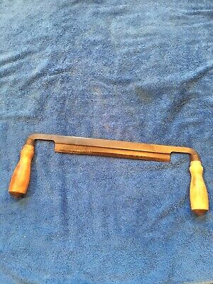"Vintage Greenlee 10"" Draw Knife Draw Shave Old Woodworking Tool Rockford ILL USA"