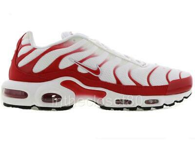 online retailer 3c3fc 7ad01 Nike Air Max Plus Tn Tuned Air White University Red Mens Trainers CI2300-100