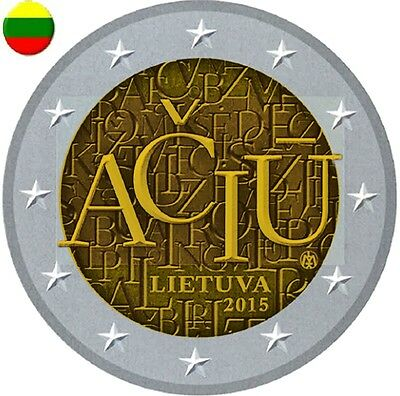 * Lot De 5 Pieces -- 2 € Comm - Unc - Lituanie 2015 - Aciu