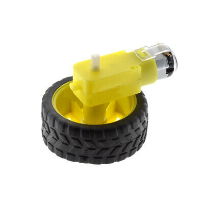 Mini Smart Car Robot Plastic Tire Wheel with DC 3-6v Gear Motor For Arduino Best
