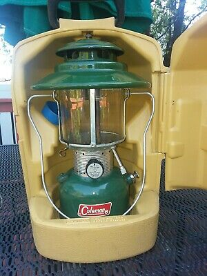 Vintage Coleman Lantern 2/66 Model 228F w Clamshell Case, funnel very good cond!