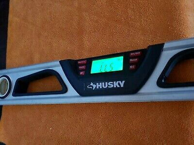 "1-Husky 24"" Multi-Function Digital Screen/Angle Bubble & Laser Level Magnet"