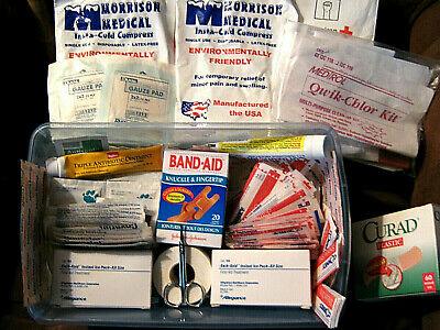 165 Piece First Aid Kit - All-Purpose Athletic Sports Team Medical 3Lb Supplies