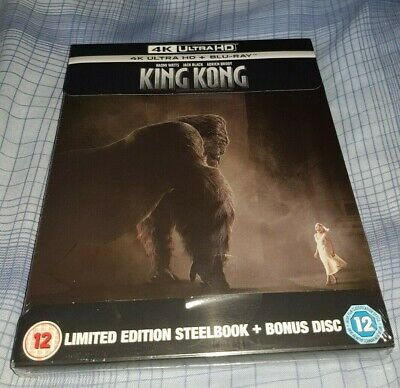King Kong Limited Edition 4K Steelbook Ultra HD + Blu-ray BRAND NEW IN HAND NOW!