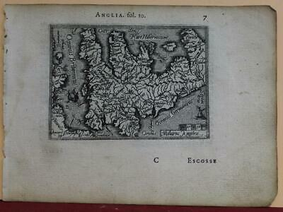 England & Wales 1577 Ortelius/Galle Unusual First Edition Antique Miniature Map