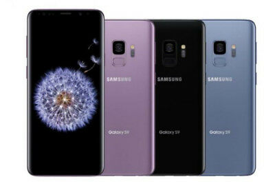 Samsung Galaxy S9 SM-G960U- 64GB -Black Blue Purple (Factory Unlocked) B