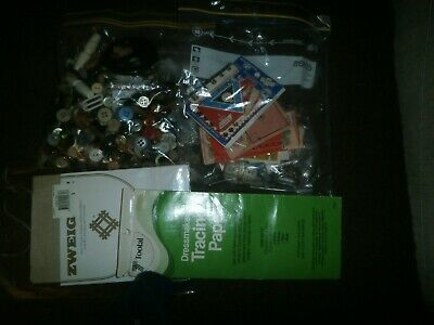Bag Of Vintage Buttons, Buckles, Toggles & Sewing Bits & Bobs