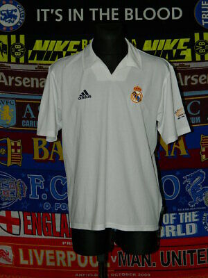 36e1d3955ab 5 5 Real Madrid adults M L home 2001 Centenary MINT football shirt jersey