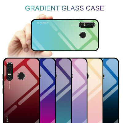 For Huawei P30 Lite Pro Case-Gradient Hybrid Tempered Glass Case Back Cover New