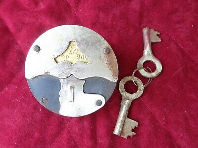 Soviet Russia Padlock with Two Keys Vintage USSR