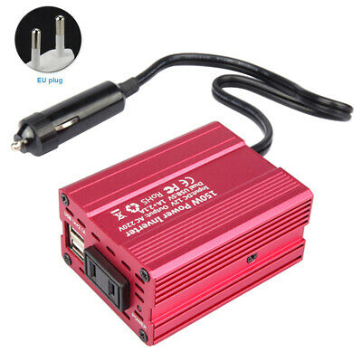 Portable Silent Fan Car Voltage With Cigarette Lighter Dual USB Power Inverter