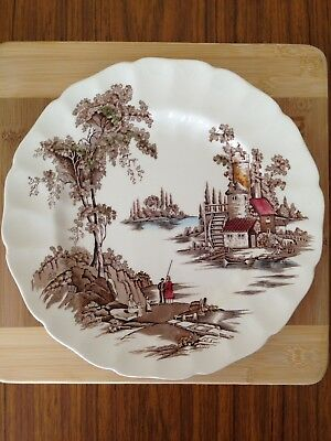 Johnson Bro's The Old Mill,dinner Plates,in V.G.C no chips.quantity 2