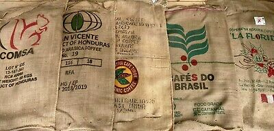 Imported Coffee Bean Burlap Bag, Clean Sack, Cut On One End, Crafts Decor