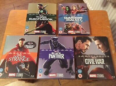 Marvel Phase 3 Blu ray collection. All rare slipcovers. New & sealed.