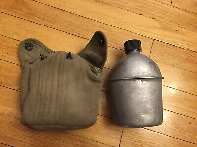 WWII WW2 US U.S. Canteen,Original,1945 Dated,Army,Cover,M1910,Military,Vintage