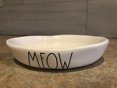 Lower Price with Rae Dunn By Magenta Pink Meow Cat Kitty Bowl Dish Brand New Ll Large Letters Dishes, Feeders & Fountains
