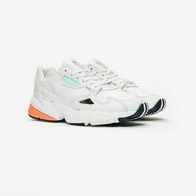 d3a245c5d NEW ADIDAS FALCON White Blue Multi Retro Chunky Trainers Women Size ...